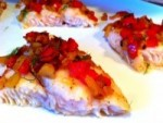 Roasted Fish with Red Pepper and Fennel