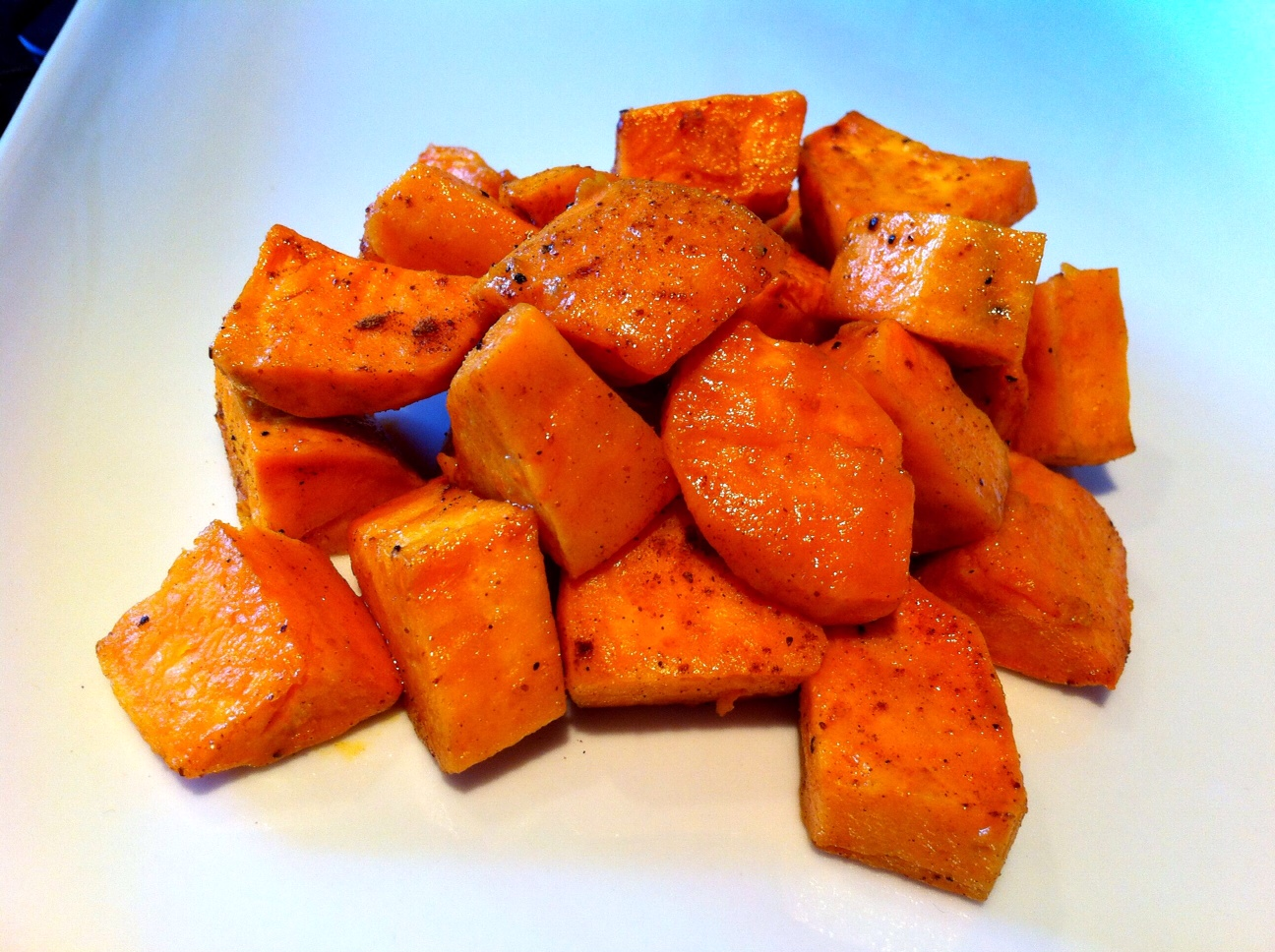 Roasted Sweet Potatoes with Three Spice Blend