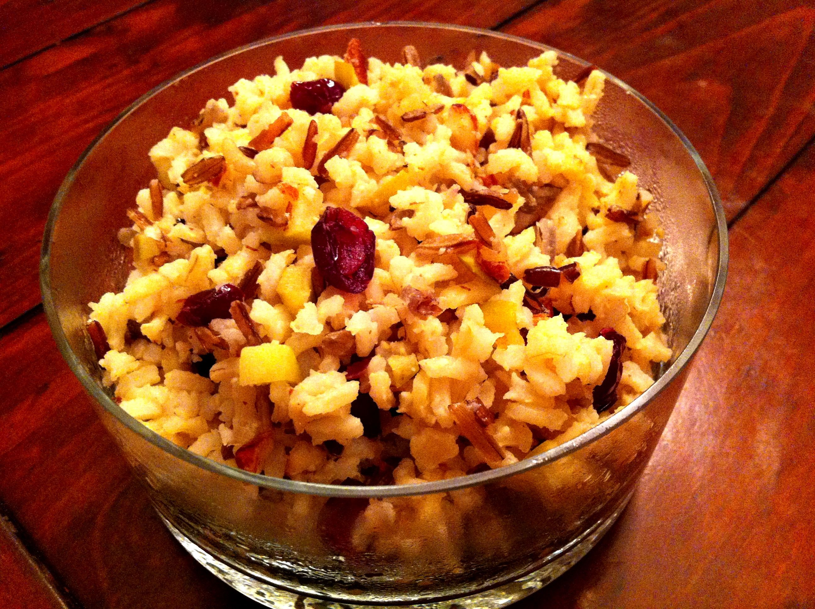 Rice Pilaf with Almonds and Dried Cranberries