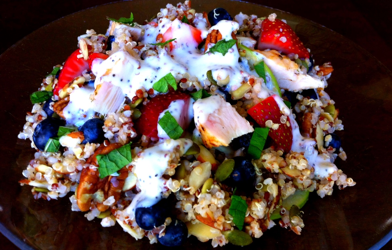 Fruity Nutty Grainy Salad