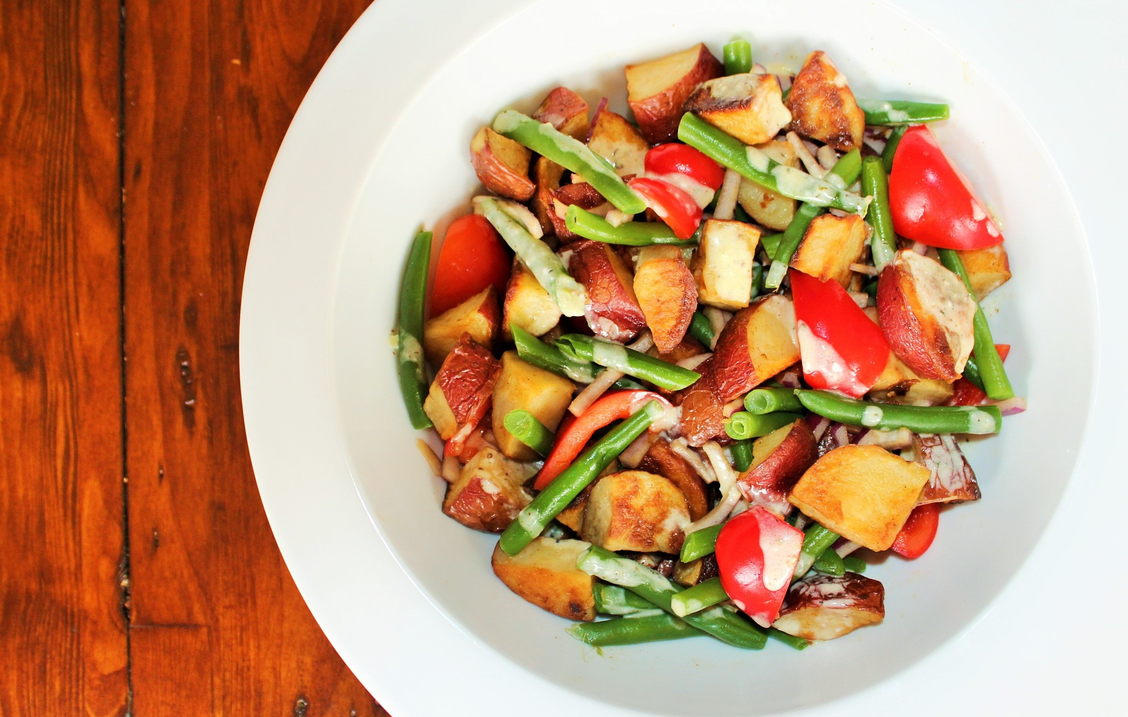 Roasted Potato Salad with Green Beans & Peppers