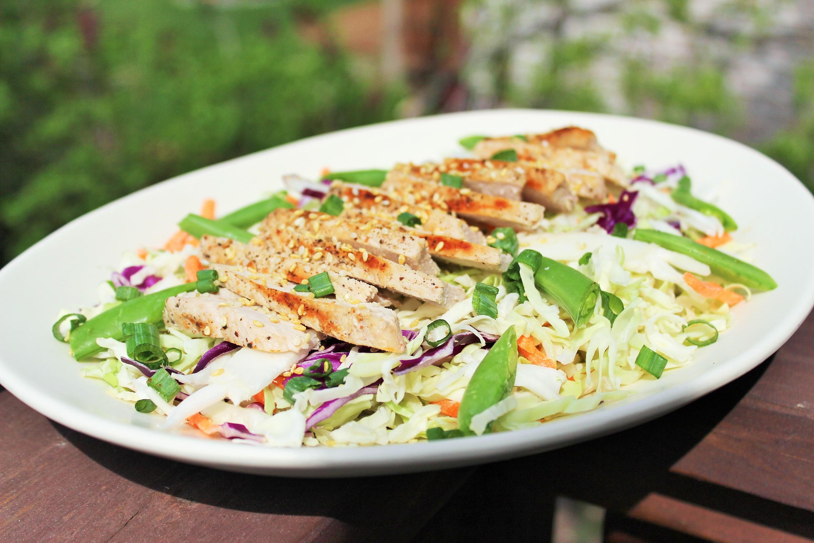 Grilled Pork Salad with Asian Vinaigrette