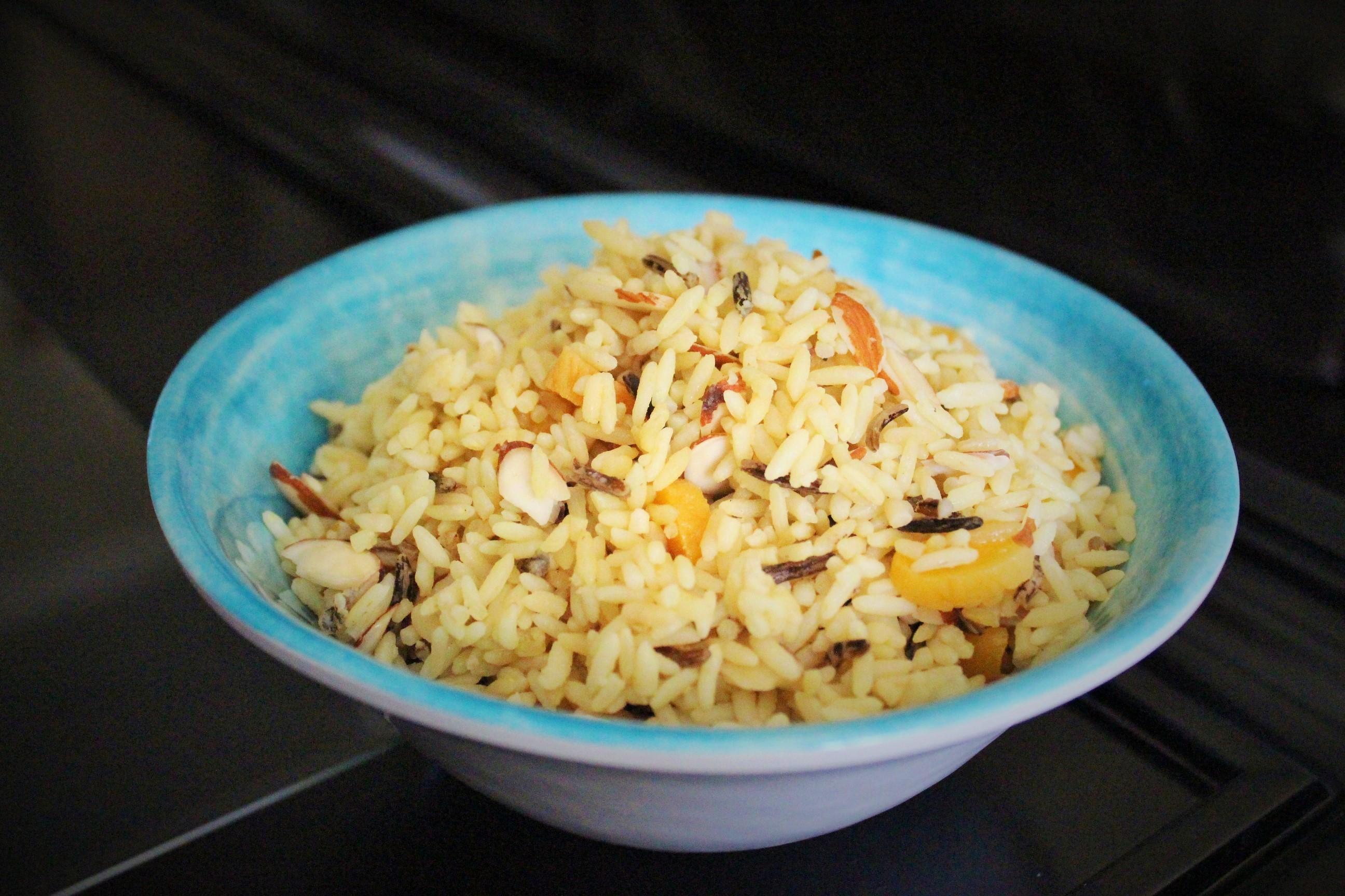 Rice Pilaf with Almonds & Apricots - Easy Peasy Eats