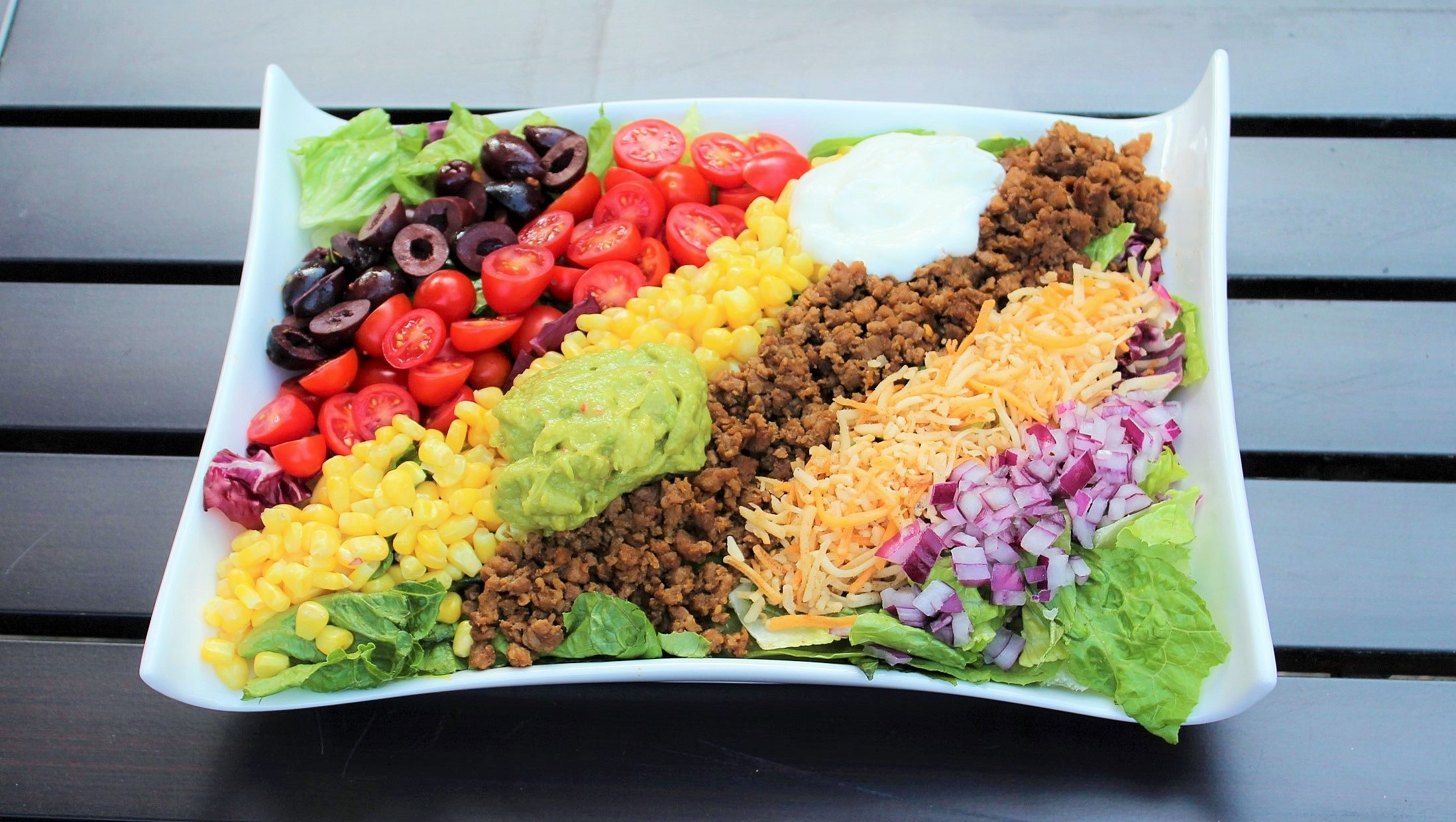 Taco Salad with Cumin Lime Dressing