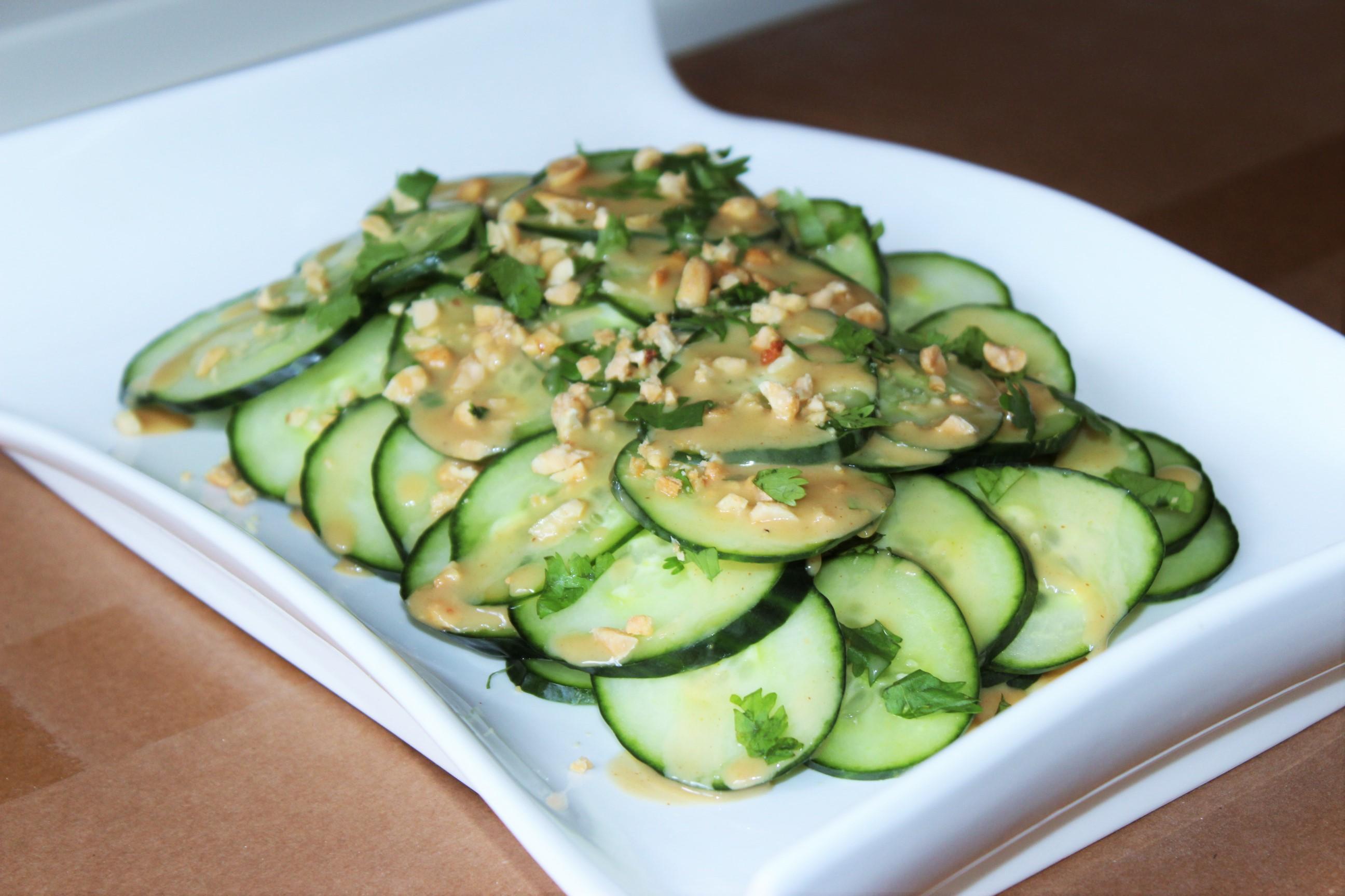 Cucumber Salad with Peanut Lime Vinaigrette