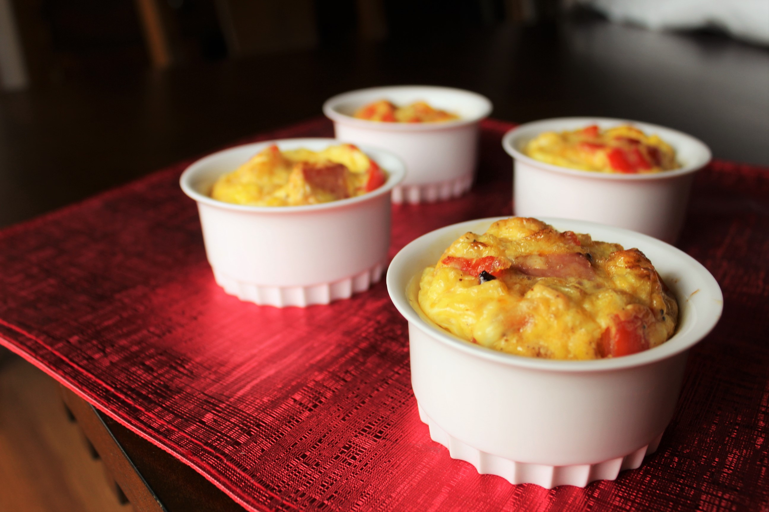 Frittatas with Sausage, Peppers and Onions
