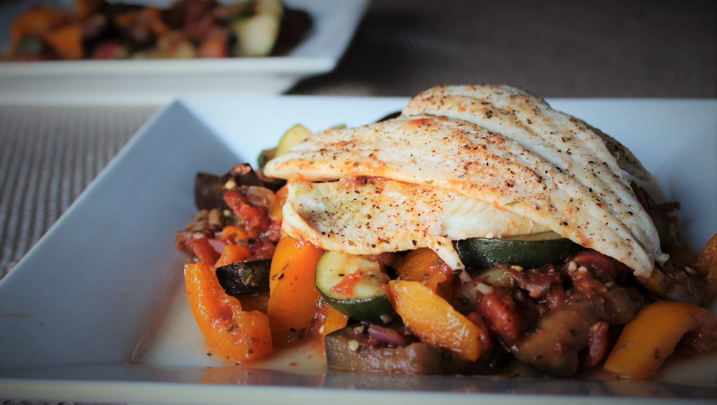 Steamed Sole with Ratatouille
