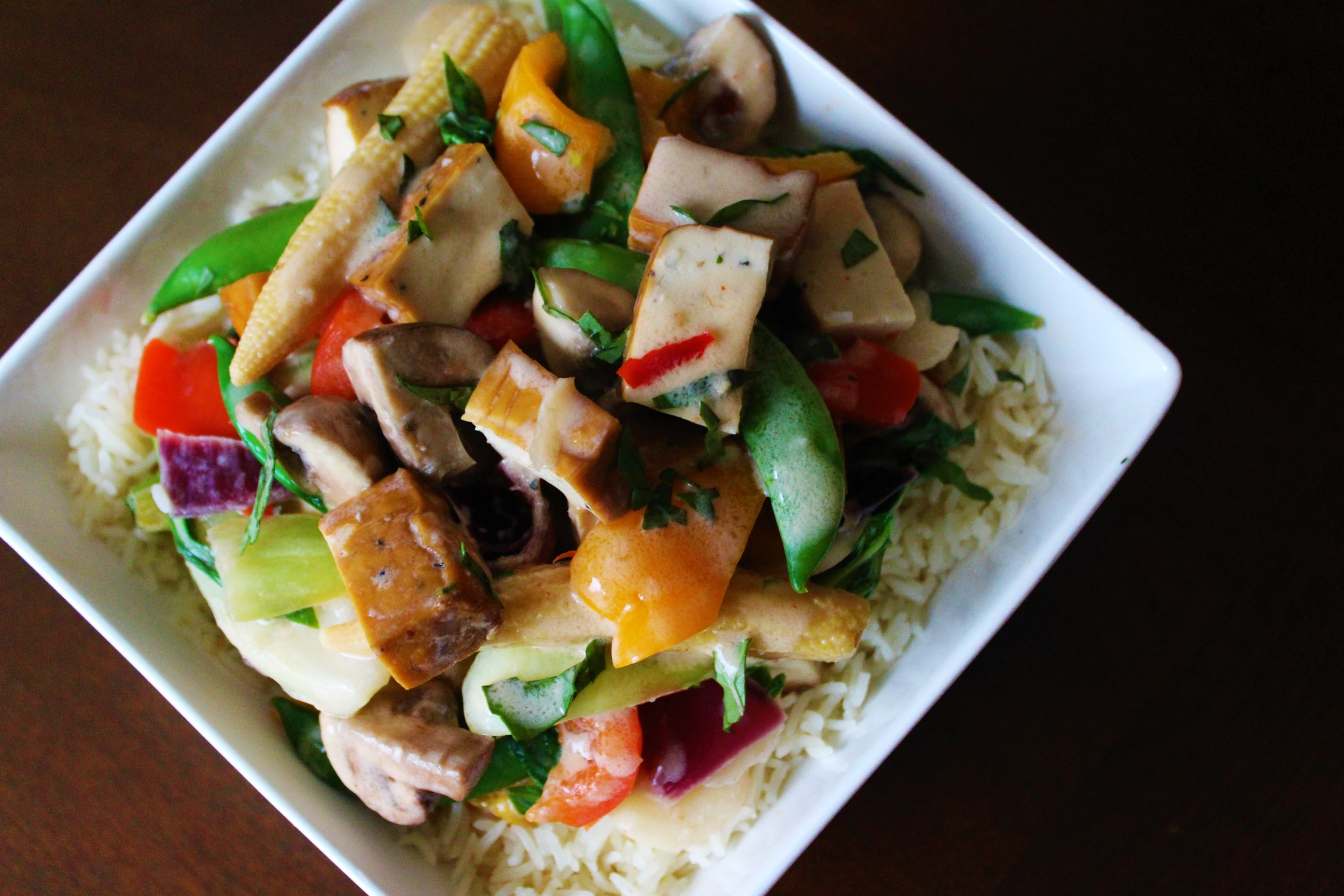 Thai Coconut Stir-fry with Tofu