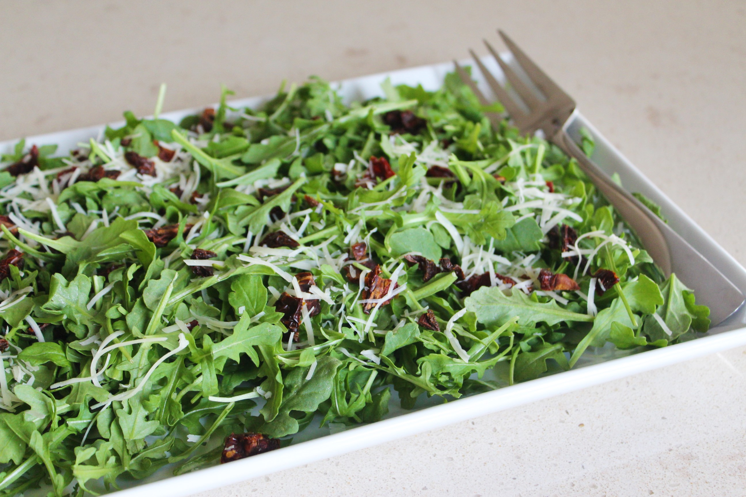 Baby Arugula Salad with Orange Balsamic Dressing