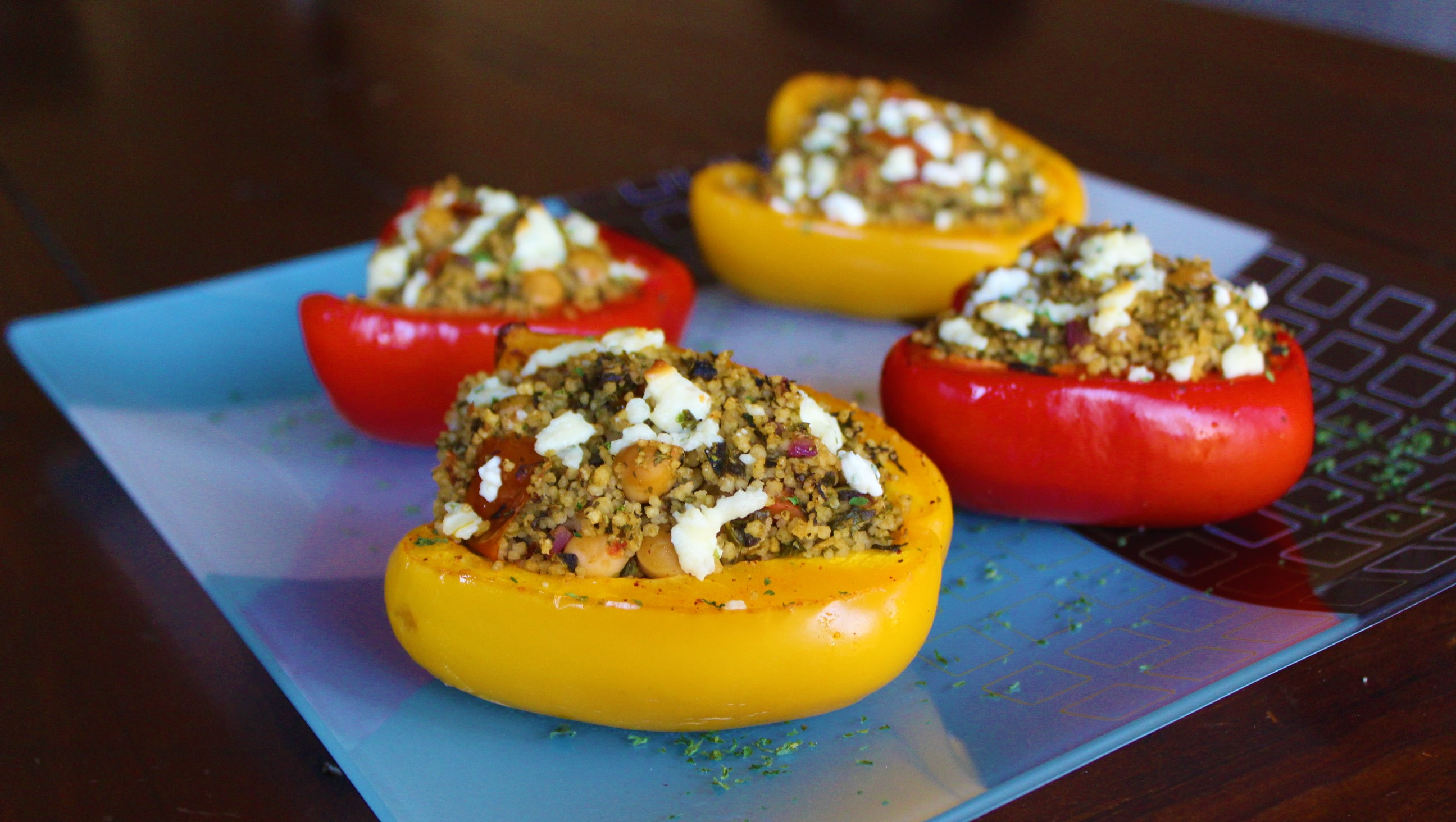 Stuffed Peppers with Couscous and Veggies