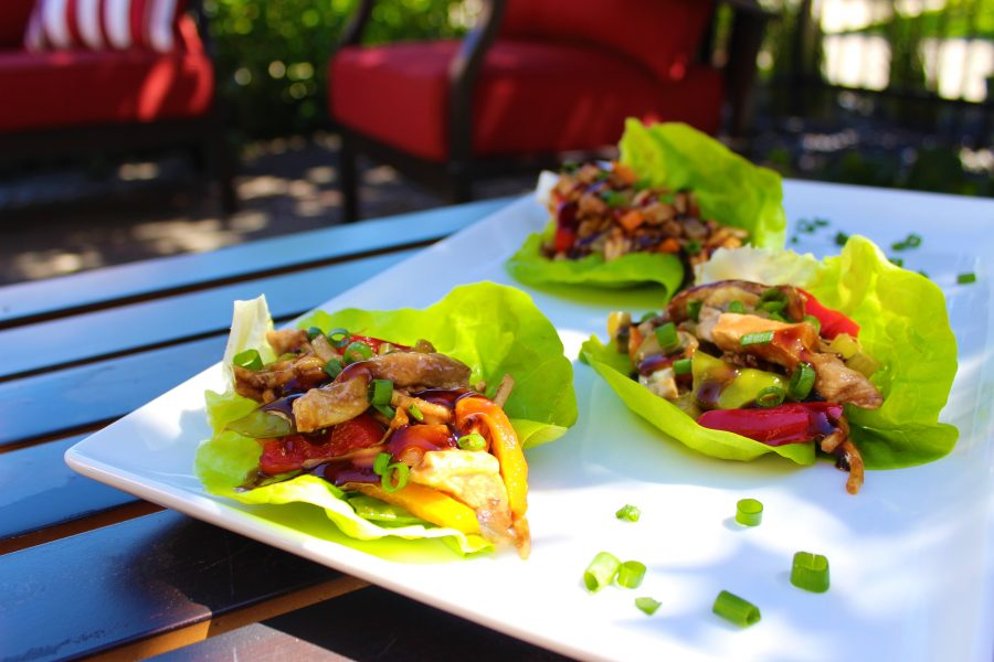 Sweet & Spicy Pork Lettuce Wraps