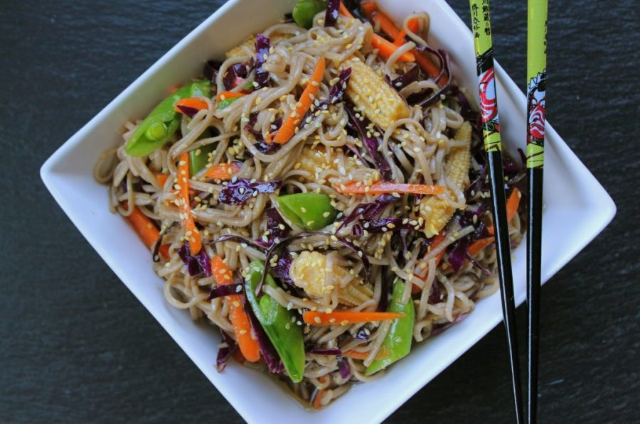 Spicy Asian Soba Noodle Salad