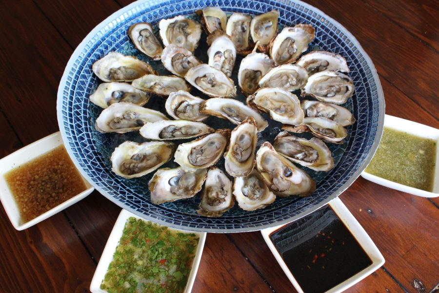 Fresh Oysters with 4 Easy Vinaigrettes