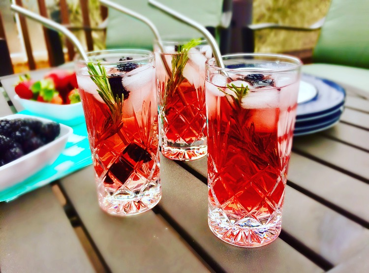 Passion Iced Tea with Rosemary