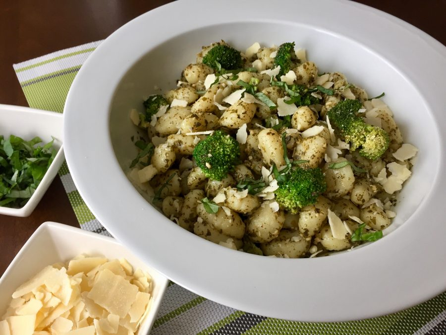 Gnocchi with Broccoli & Basil Pesto