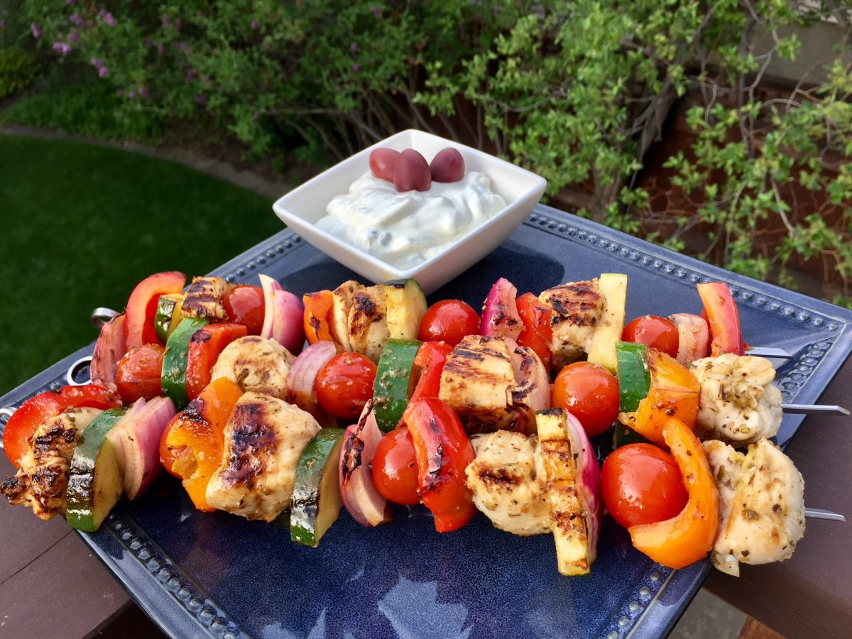Grilled Greek Style Chicken Kabobs